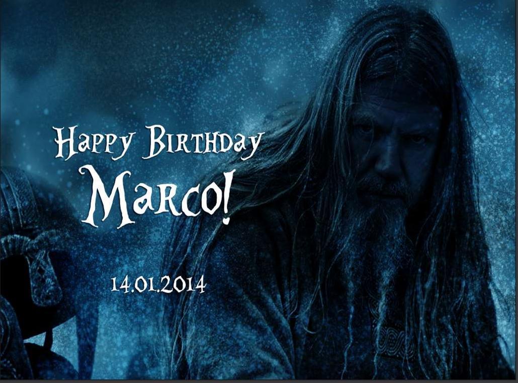 Kartka urodzinowa dla Marco (2014)